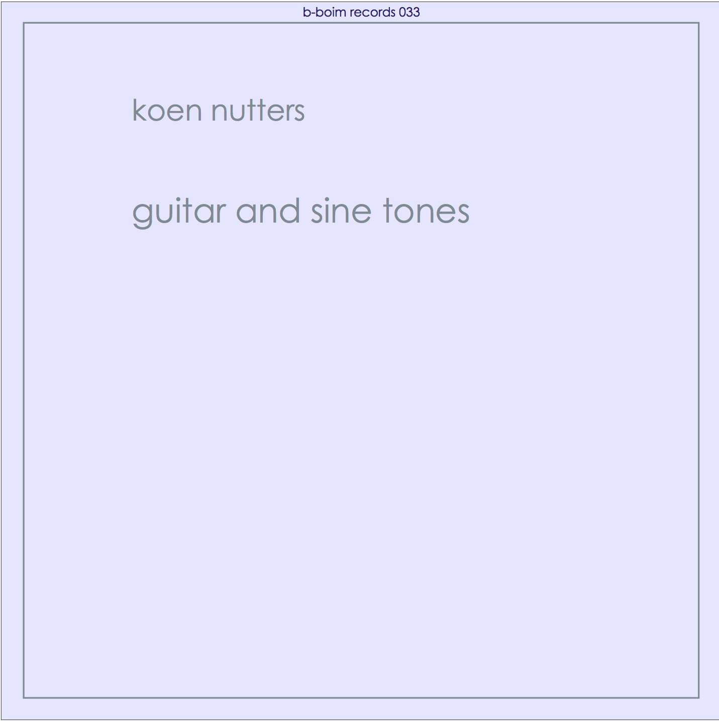 cover guitar and sine tones