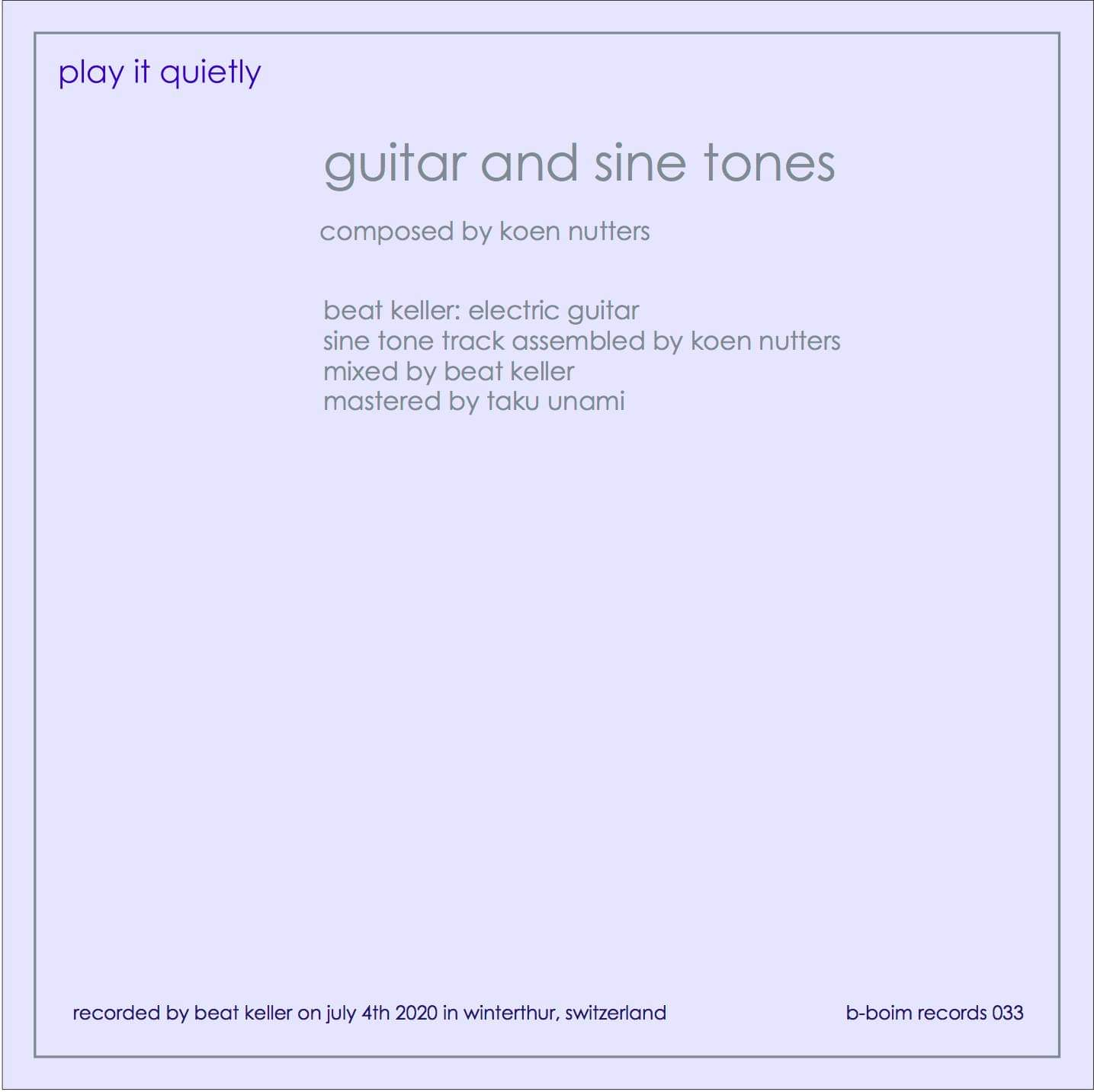 cover backside guitar and sine tones